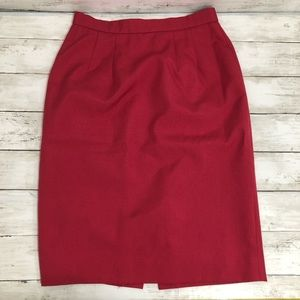 Liz Claiborne | Red Pencil Skirt | Size 8